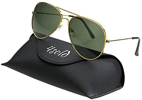 4sold Hombre gafas sol polarizado conducción caso