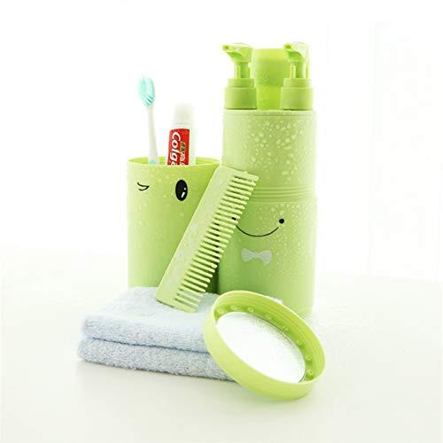 Zahnbürstenbecher, Abs-Material in Lebensmittelqualität, ungiftig, geruchlos, sicher und hygienisch, tragbare Multifunktions-Empfangskassette, Set mit Toilettenartikeln für den Außenbereich
