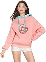 GOT7 Tianzhi State Section Ian Same Sanitary Clothes Just Right Donut Student Lovers Sanitary Clothes in Autumn and Winter(Pink, L)