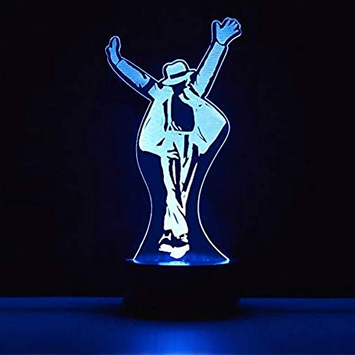 Michael Jackson Libro Poster 3D Lámpara de Escritorio Mesa 7 cambiar el color botón táctil de escritorio del USB LED lámpara de tabla ligera Decoración para el Hogar Decoración para Niños Mejor Regalo
