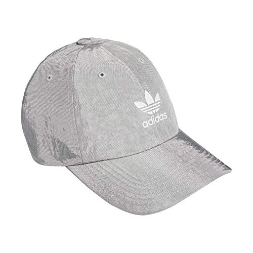adidas Originals Shine Relaxed Adjustable Cap,Matte Silver,ONE SIZE