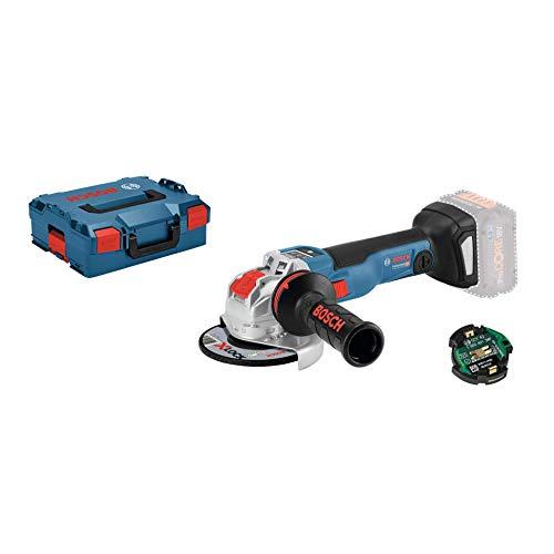 Bosch Professional GWX 18V-10 SC Amoladoraangular, X-LOCK, diámetro disco 125mm, velocidad variable, módulo Conectivity, sin batería, en L-BOXX, 18 V