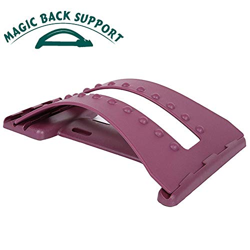 Magic Back Stretcher Lumbar Support Device Massager Posture Corrector for Upper and Lower...