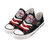 SXDE BTS Zapatos de Lona Zapatos Deportivos Ligeros Bajos con Cordones Zapatos Planos Transpirables Moda Juvenil-A_42