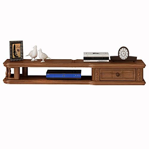 Book CASE DD-Diverse kast, rustieke Amerikaanse tv-kast, wandmontage elektronica, media plank, afgeronde hoeken, belastbaarheid, massief hout, 120 cm