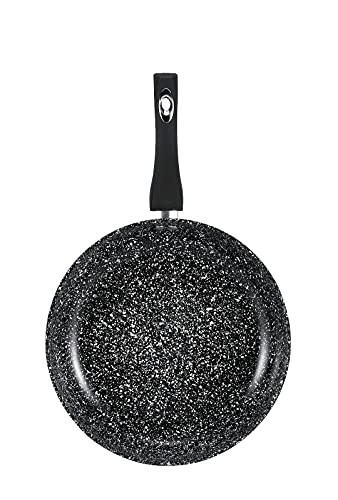 Black Granite Marble Coated Non Stick Frying Pan for Gas, Electric &...