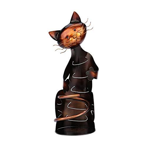 Botellero de Vino Estante de vino, gatos lindos Figurine Tablero de vino Mostrador de vino Botella Champagne Holder País para cocina, comedor, bar, decoración de cocina para el hogar, totalmente ensam