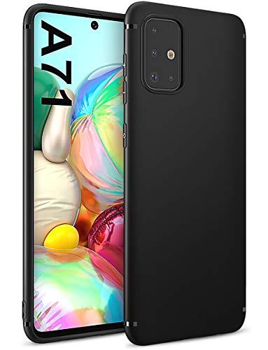 BENNALD Hülle für Samsung Galaxy A71 Hülle, Soft Silikon Schutzhülle Hülle Cover - Premium TPU Tasche Handyhülle für Samsung Galaxy A71 (Schwarz,Black)