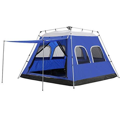 XUSHEN-HU 5-8 Persona automática Camping instantánea Tienda al Aire Libre Abierto rápido Impermeable Tienda de la Familia 4 Temporada Mochilero Carpa (Color : Blue)