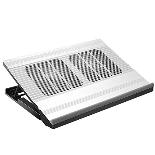 Aveo Base di Raffreddamento Laptop Cooling Pad, Alluminio Alloy12-17 inch Laptop Raffreddamento Cooling Pad Notebook Cooler Stand Cooling Pad Raffreddamento Mat   2 Port USB Cooling Pad