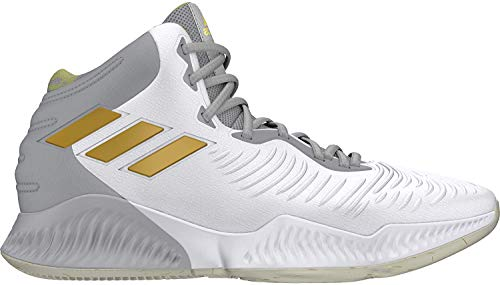 adidas Mad Bounce 2018, Scarpe da Basket Uomo, Bianco (Ftwwht/Gold Mt/Gretwo Ftwwht/Gold Mt/Gretwo), 48 2/3 EU