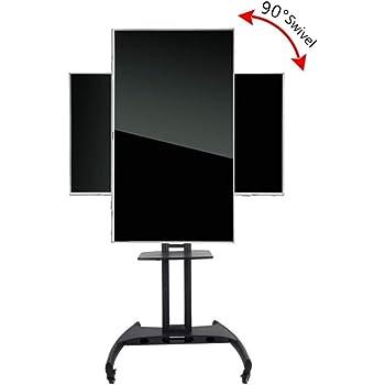 Soporte de Piso de Carro de TV móvil, Horizontal y Vertical de la Pantalla Cambiar libremente TV Soporte móvil Percha, Home Display Trolley para 32 60
