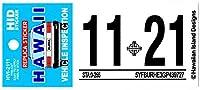 ハワイアン雑貨 ハワイアン レプリカ 車検 ステッカー インスペクションステッカー ハワイ雑貨 お土産 (11月)