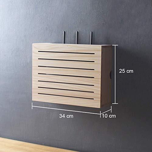 Carga de televisión por cable Wi-Fi del router estantes de madera estantes de almacenamiento del armario rack de almacenamiento box set top box cable de soporte de mobiliario de oficina ( Color : B )