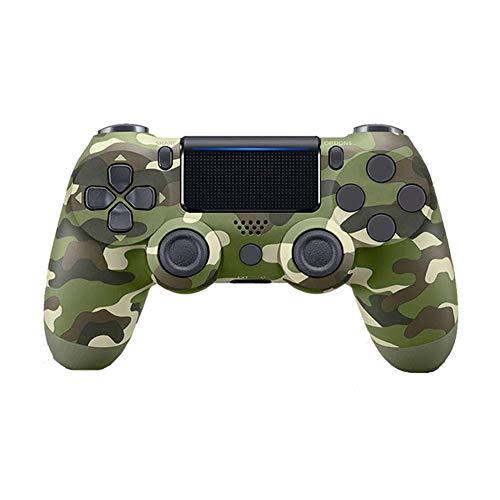 VAWA Manette de Jeu sans Fil contrôleur-Manette de Jeu pour Playstation 4 / PS4 Slim/PS 4 Pro/PC, Bluetooth 4.0 Double Chargeur Rapide avec Affichage LED-Green