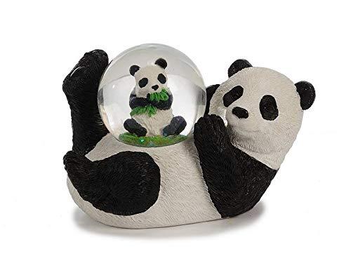 Euro Souvenirs Glitzerkugel Panda liegend, Schneekugel Tier Tiere Pandabären Pandabär Schneekugeln