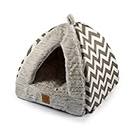 A private and cosy bed for relaxed cat naps With thick sides and an over-stuffed base cushion Stylish print and non-slip base Perfect for cats and small dogs Can be removed for washing