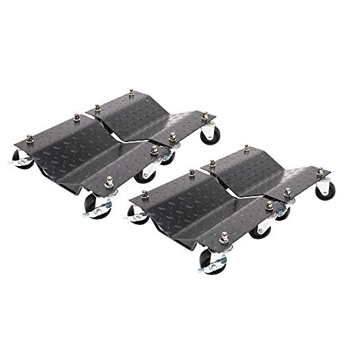"Set of (4) 3"" Set Tire Wheel Dollies Dolly Vehicle Car Auto Repair Moving Car Dolly Set"
