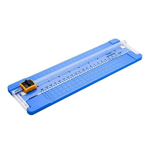 Cortador de papel giratorio MASO 30,48 cm, cortador de papel rotativo profesional de titanio, guillotina para cupones, papel de manualidades, etiqueta y foto azul
