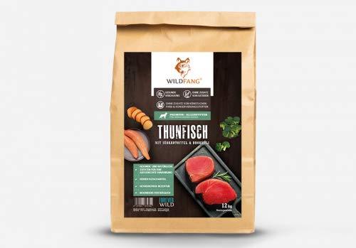 Wildfang Crocchette per Cani 2 kg I Cibo per Cani Senza Cereali con tonno, Patate Dolci e Broccoli I Alimento Secco per Cani Adulti I Alimento Secco per Cani Senza additivi Artificiali