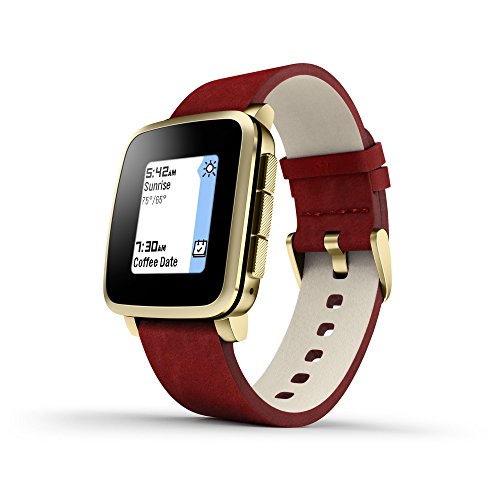 pebble Time Steel Smart Watch Gold