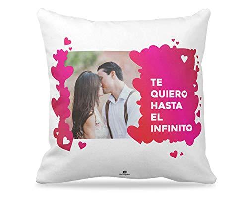 Getsingular Cojines Personalizados con tu Foto y Frase Ideales para Enamorados y...