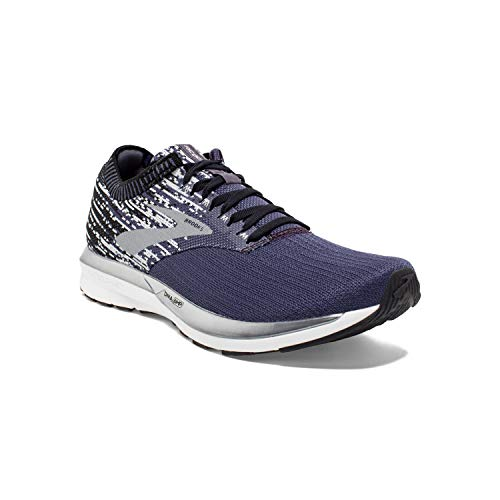 Brooks Mens Ricochet Running Shoe - Greystone/Grey/Navy - D - 8.5