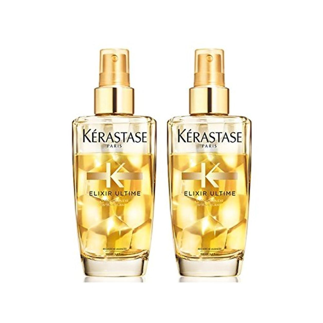その結果歴史家悩むK?rastase Elixir Ultime Fine Hair Oil Duo 100ml (Pack of 6) - ケラスターゼのエリクシルの細い髪油デュオ100ミリリットル x6 [並行輸入品]