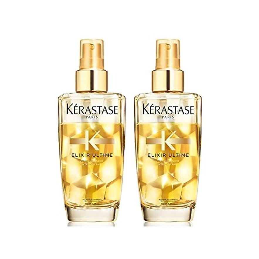 スプーン塩耕すK?rastase Elixir Ultime Fine Hair Oil Duo 100ml (Pack of 6) - ケラスターゼのエリクシルの細い髪油デュオ100ミリリットル x6 [並行輸入品]