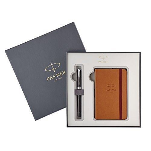 Parker Urban Premium - Set de pluma estilográfica y cuaderno, color ébano