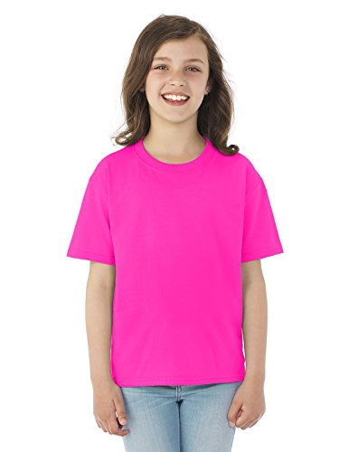 Fruit of the Loom Boys 5 oz.Heavy Cotton HD T-Shirt (3931B) -NEON Pink -S