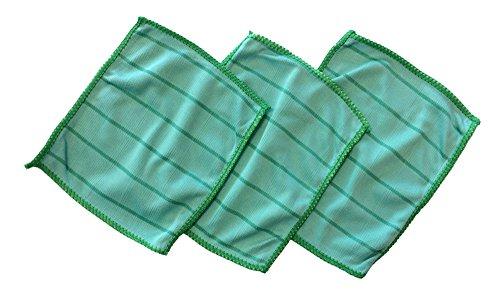 3x Brillenputztuch I Mikrofasertuch zur Brillenpflege, Bambustuch zum Reinigen Ihrer Brille, Reinigungstuch aus Microfaser, 17x14 cm