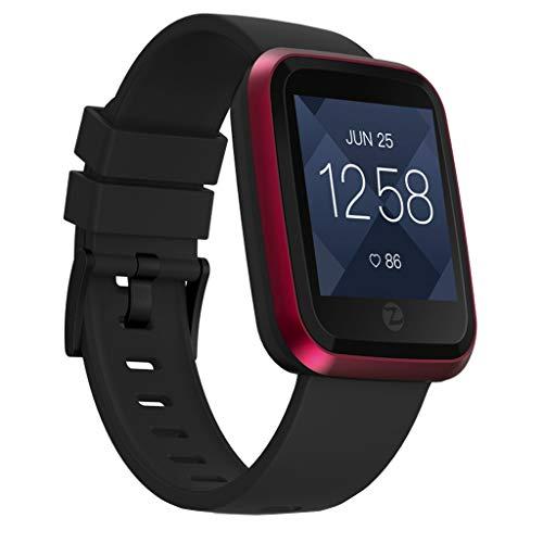LRWEY Fitness Smart Watch, IP67 Wasserdichter Farbbildschirm GREENCELL Herzfrequenz-Algorithmus Smart Watch für Android iOS