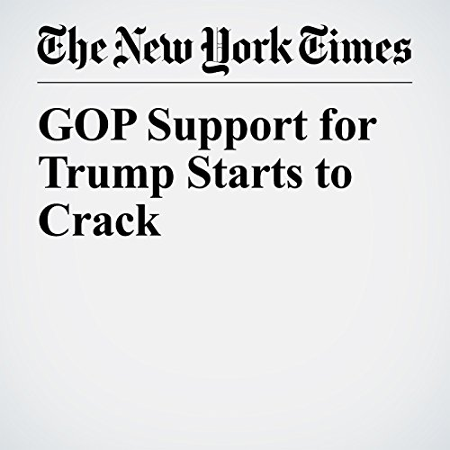 GOP Support for Trump Starts to Crack copertina