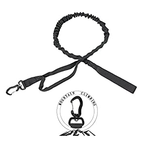 PSKOOK Tactique Bungee de Dressage de Chien Laisse Avec Poignée de Commande Quick Release Mène en Nylon Corde