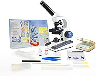 Rechargeable Battery 50 Prepared Slides Set Vision Scientific VME0019-T-RC-P3 Dual View Elementary Microscope Microscope Book Microscope Discovery Kit Microscope Carrying Case