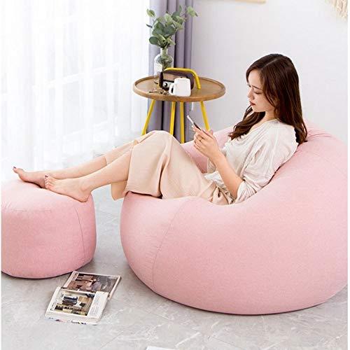 HAOLIN Fauteuil Poire/Canapé/avec Poches Latérales/Salon Parfait/avec Repose-Pieds/Intérieur Extérieur Chambre Salon Jardin,Pink-OneSize