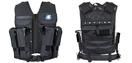 New Legion Erwachsene Tactical Weste Carrier Paintball, Schwarz, M - XXL