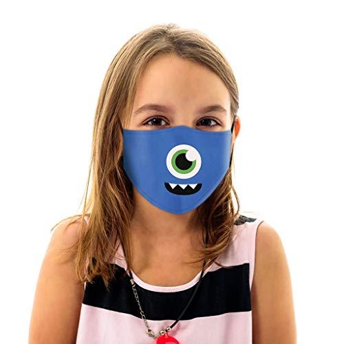 PPangUDing Kinder Mundschutz Waschbar Wiederverwendbar Cartoon Druck Baumwolle Atmungsaktive Staubdicht Halstuch Multifunktionstuch Bandana für Jungen und Mädchen