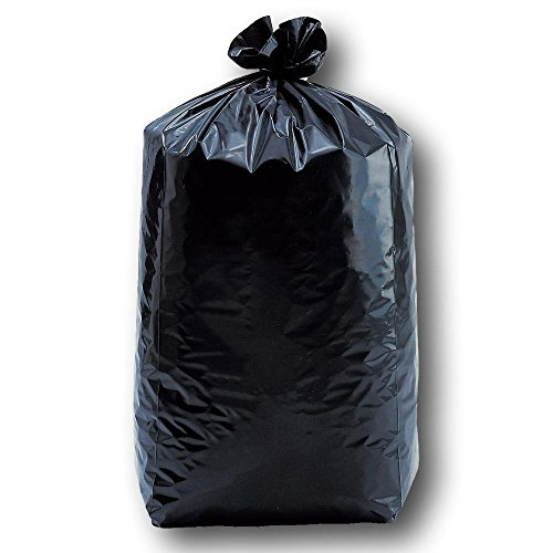 500 sacs poubelle basse densité 150 Litres 50u noir renforcé ultra résistant qualité professionnel certifié norme Européenne type lien dans le soufflet antifuite sac déchet poubelle plastique