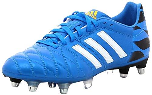 Adipure 11 Pro XTRX SG - Botas de fútbol, color azul, blanco, negro, azul y azul, talla 40 2/3 EU