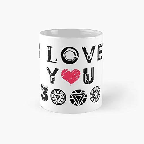 Taza clásica con texto en inglés 'I Love You 3K | El mejor regalo divertidas tazas de café de 11 oz