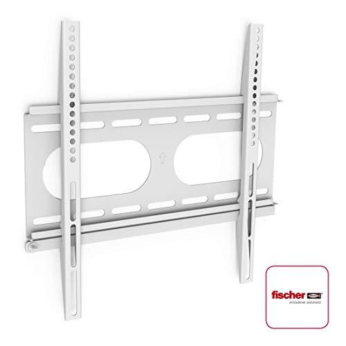 Hama TV-Wandhalterung Ultraslim (für Fernseher von 32 bis 56 Zoll (81 cm bis 142 cm Bildschirmdiagonale), inkl. Fischer Dübel, VESA bis 400 x 400, Wandabstand nur 2,5 cm, max. 50 kg) weiß