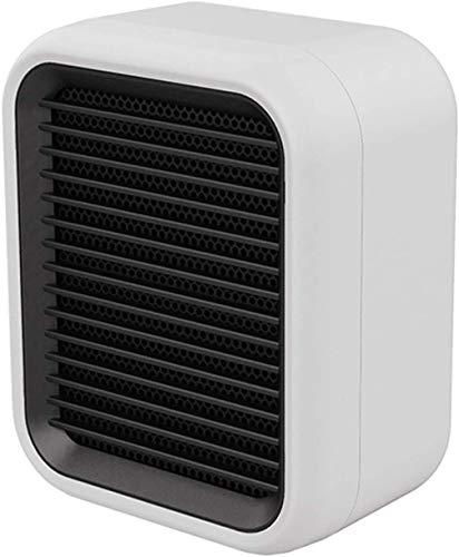 J & J Ventilador portátil Calentador PTC, Ajustable Termostato, Calentador de Espacios 800W Tabla Calentador, 3S rápida de calefacción, con Tip-Una y protección contra sobrecalentamiento,Blanco