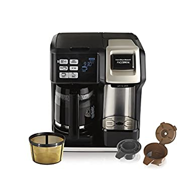 Hamilton Beach (49950C) Coffee Maker, Single Serve & Full Coffee Pot,Compatible withK-Cup Packs or Ground Coffee, Programmable, Includes Gold Tone Filter
