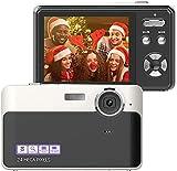 Appareil Photo Numérique Caméra 24MP Écran LCD 2,4 Pouces Mini Caméra Vidéo Compacte Caméra Pointer et Tirer pour Les Enfants/Etudiants/Aînés/Amateurs