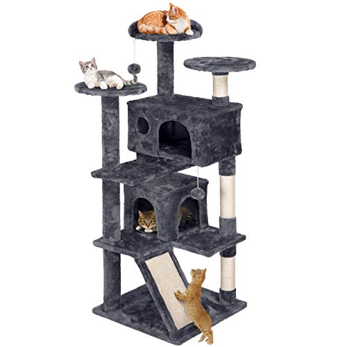 Yaheetech 55 inches Cat Tree Pet Furniture Play House for Kittens