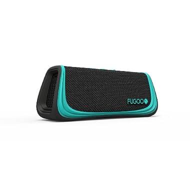 Fugoo Sport - Portable Rugged Bluetooth Wireless Speaker Waterproof Longest 40 Hrs Battery Life (Black/Teal)