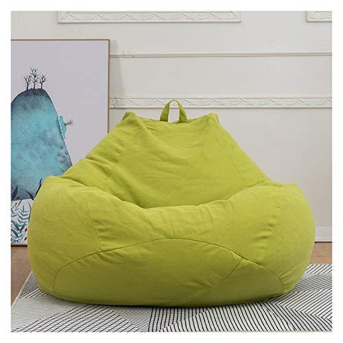 HLRY Nuevo Sofá extraíble Filler Lazy Sofa Cubierta Sillas Dormitorio Ottoman Lounger Siller Boag Bag Puf Puff Sofá Tatami Garden Deckchair (Color : Matcha Green, Specification : M 80x90cm)