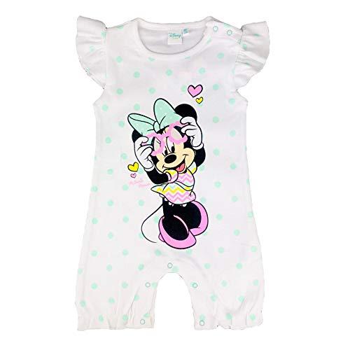 Barboteuse Grenouillère Bébé Fille Disney Minnie Body Nouveau Née en Coton Imprimé 2890 - Vert, 18 Mois (86 CM)